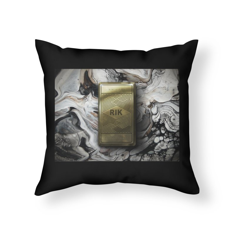 Barz (Gold) Home Throw Pillow by RIK.Supply