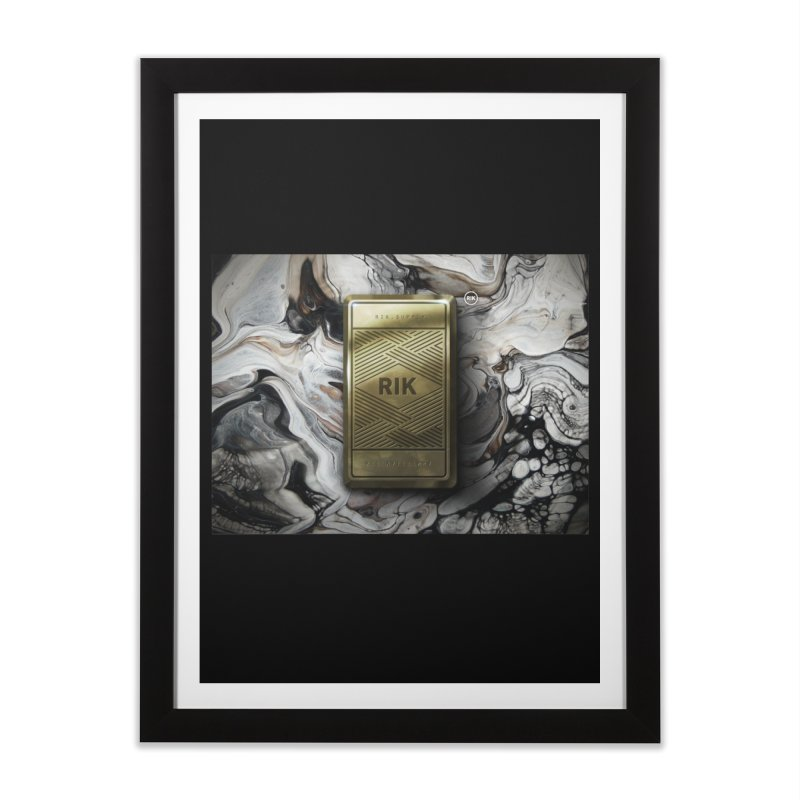 Barz (Gold) Home Framed Fine Art Print by RIK.Supply