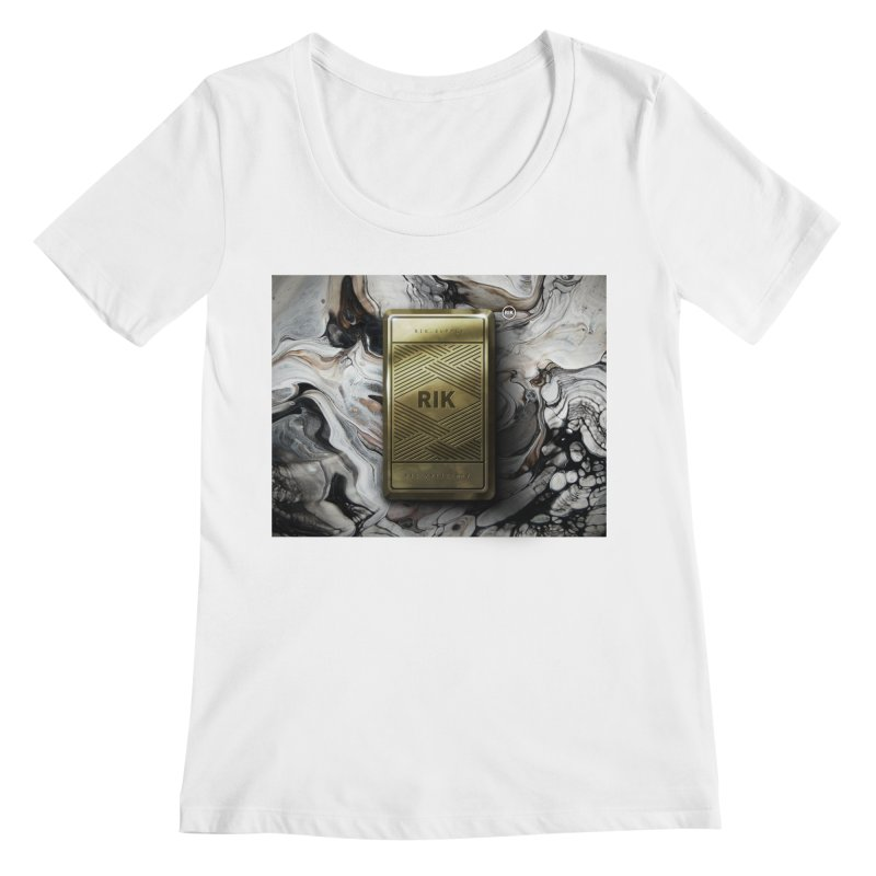 Barz (Gold) Women's Regular Scoop Neck by RIK.Supply