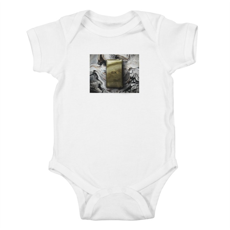 Barz (Gold) Kids Baby Bodysuit by RIK.Supply