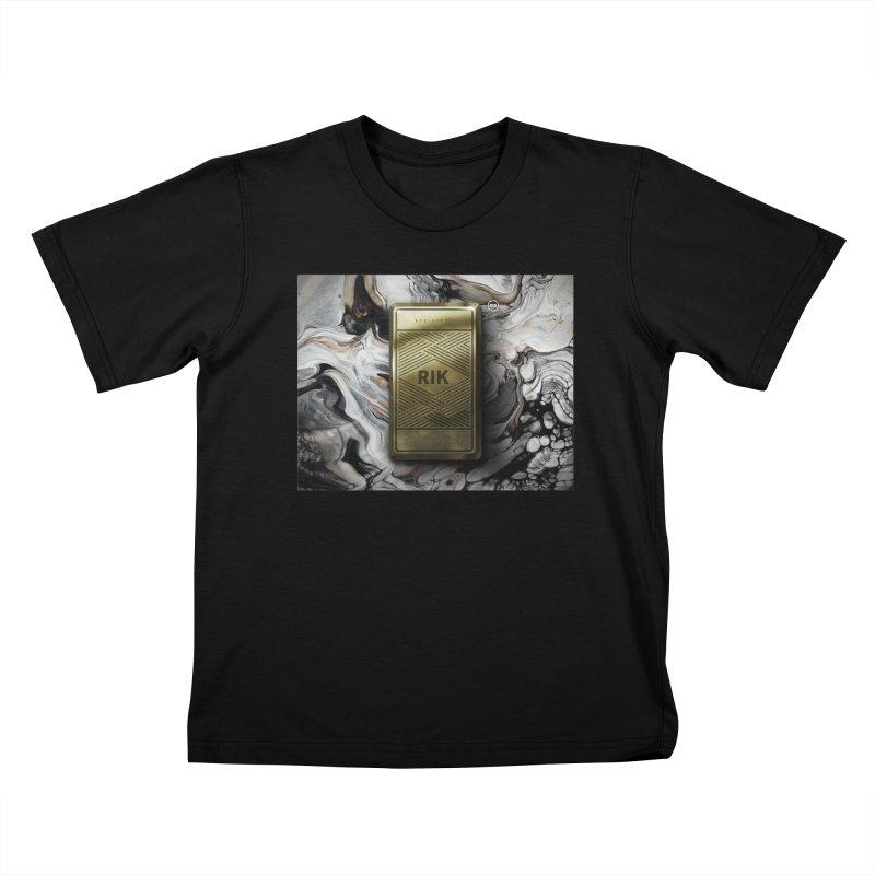Barz (Gold) Kids T-Shirt by RIK.Supply