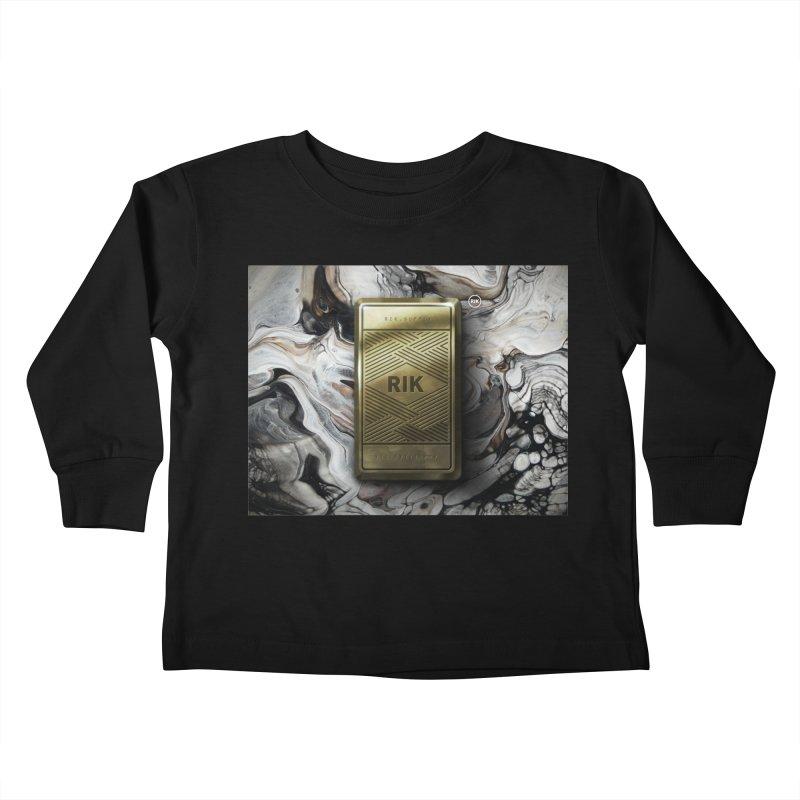 Barz (Gold) Kids Toddler Longsleeve T-Shirt by RIK.Supply