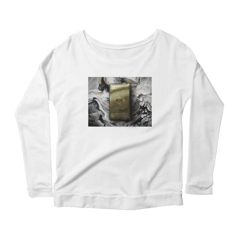 Barz (Gold) Women's Scoop Neck Longsleeve T-Shirt by RIK.Supply