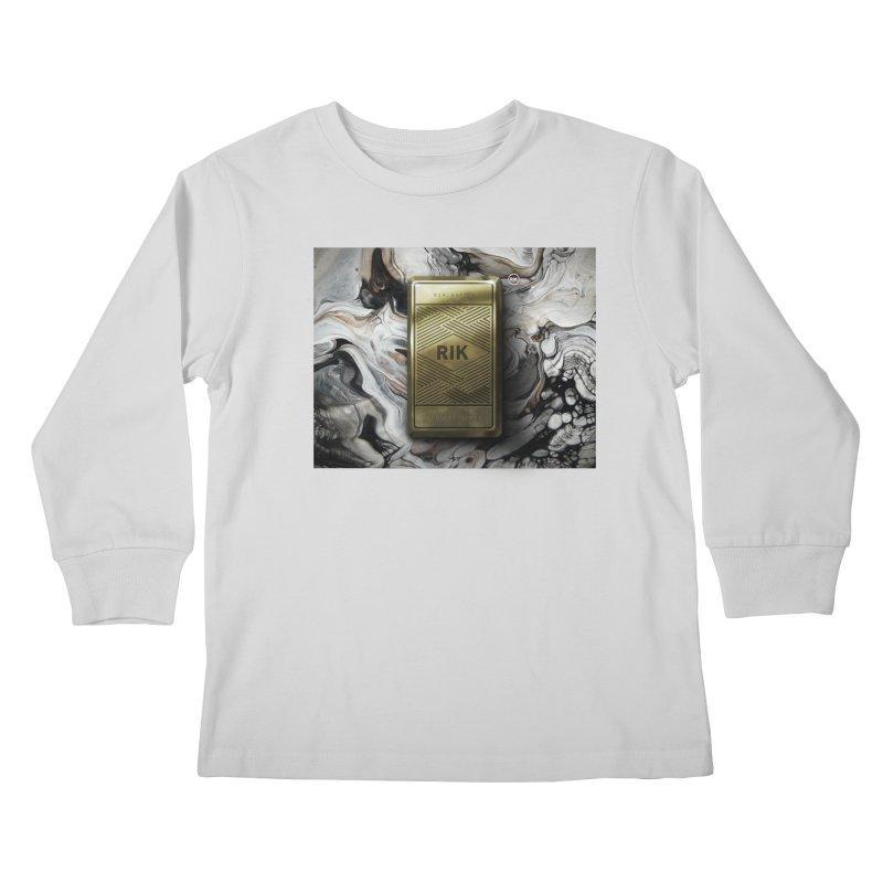Barz (Gold) Kids Longsleeve T-Shirt by RIK.Supply