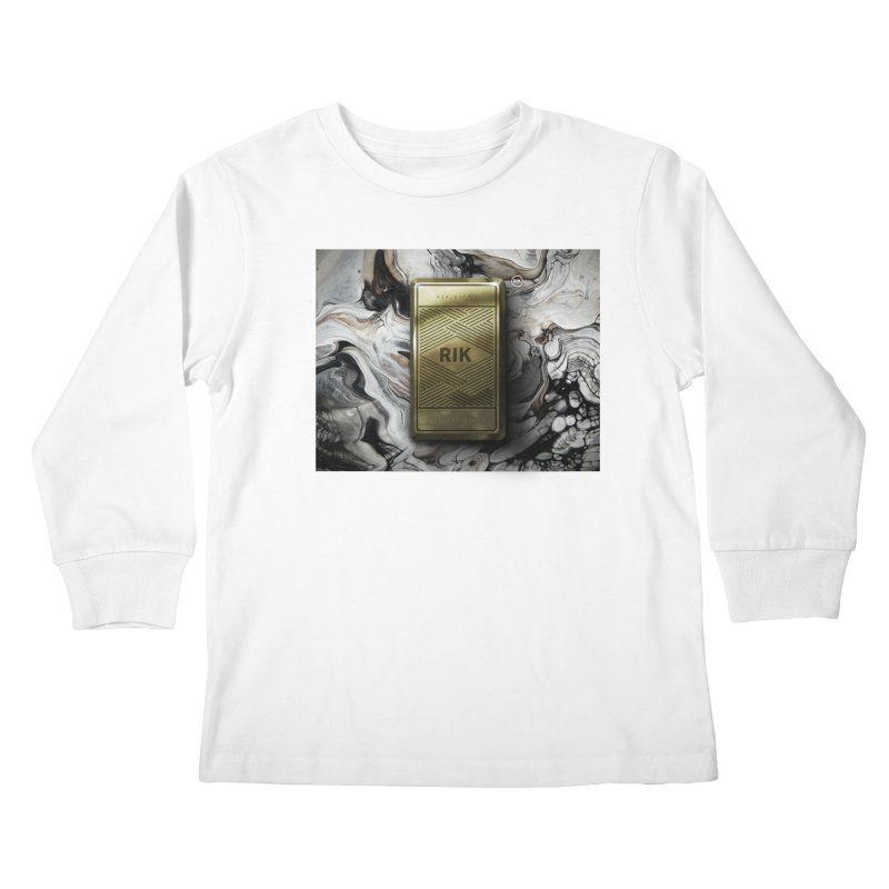 Barz (Gold) Kids Longsleeve T-Shirt by RIK.Supply