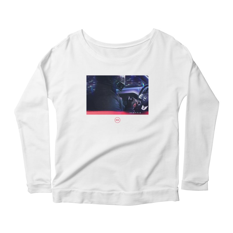 S C O T T I E Women's Scoop Neck Longsleeve T-Shirt by RIK.Supply