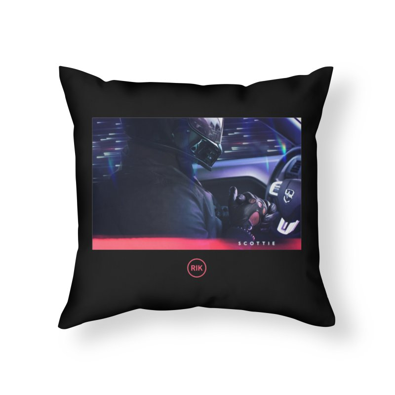 S C O T T I E Home Throw Pillow by RIK.Supply
