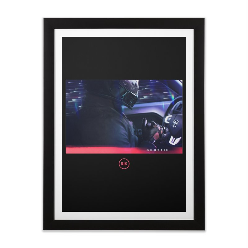 S C O T T I E Home Framed Fine Art Print by RIK.Supply
