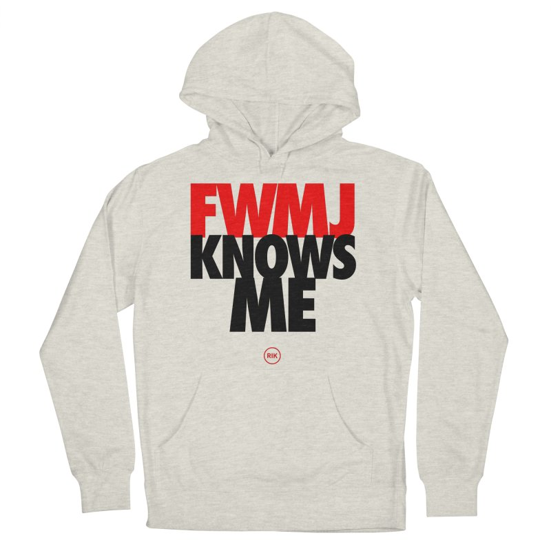 FWMJ Knows Me in Men's French Terry Pullover Hoody Heather Oatmeal by RIK.Supply