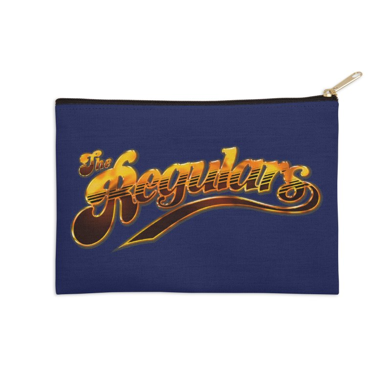 The Regulars (Gold) Accessories Zip Pouch by RIK.Supply