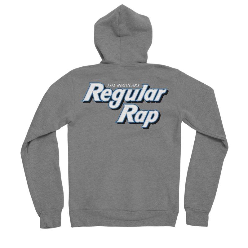 Regular Rap Men's Sponge Fleece Zip-Up Hoody by RIK.Supply