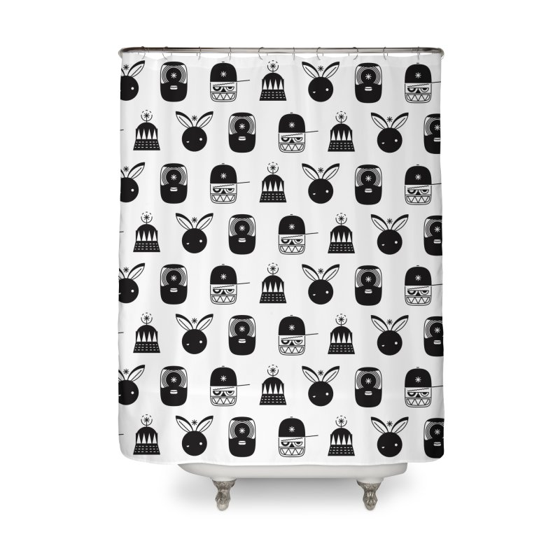We Are Radio Galaxy Home Shower Curtain by RIK.Supply