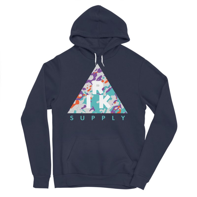 RIK.Supply (Spring Flecktarn) Men's Sponge Fleece Pullover Hoody by RIK.Supply