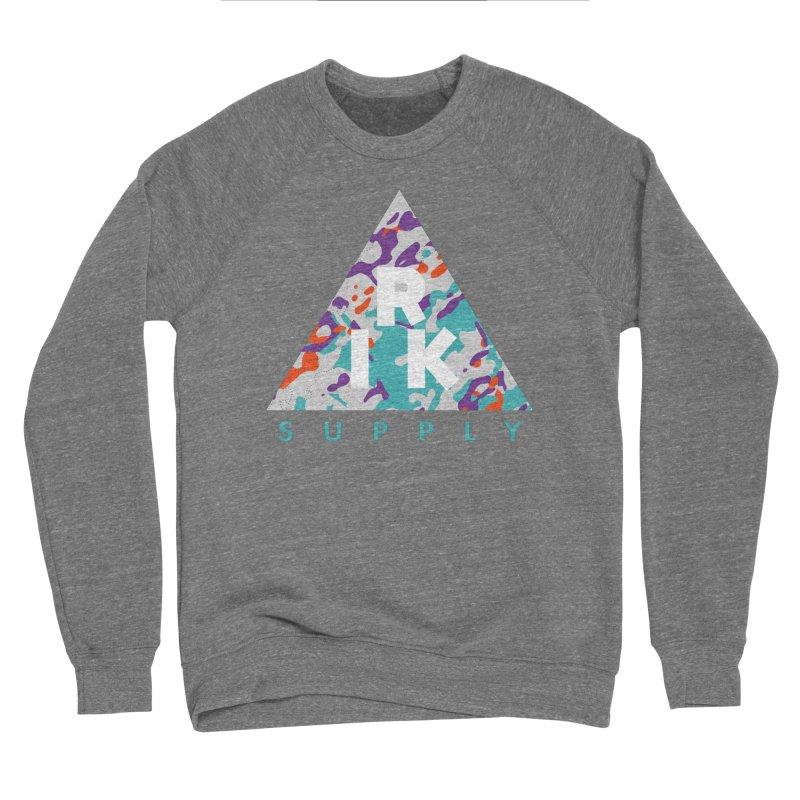 RIK.Supply (Spring Flecktarn) Men's Sponge Fleece Sweatshirt by RIK.Supply
