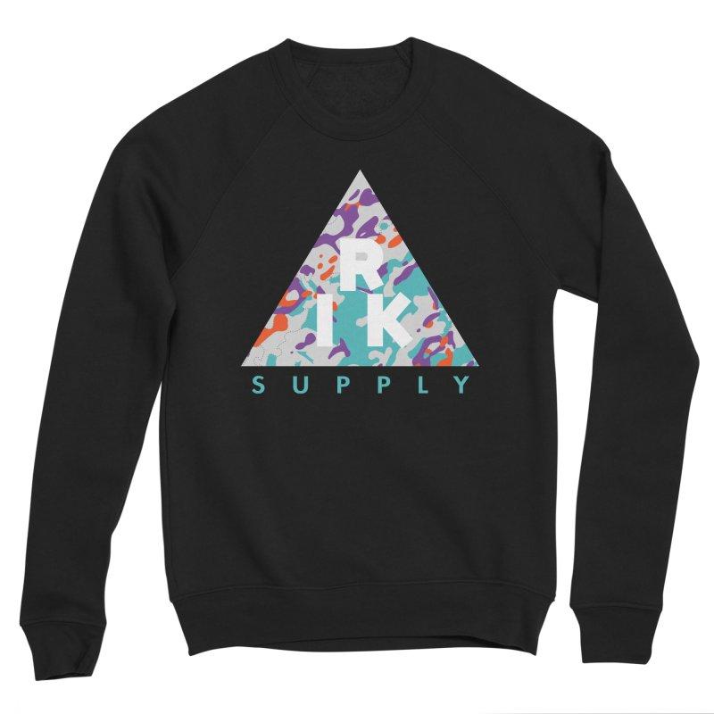 RIK.Supply (Spring Flecktarn) Women's Sponge Fleece Sweatshirt by RIK.Supply