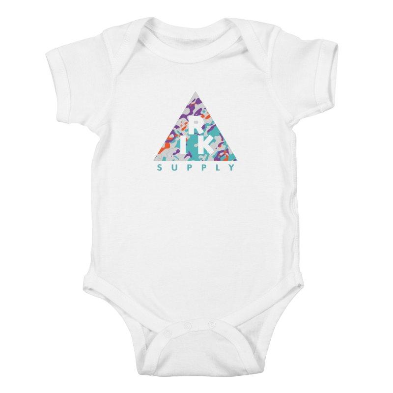 RIK.Supply (Spring Flecktarn) Kids Baby Bodysuit by RIK.Supply