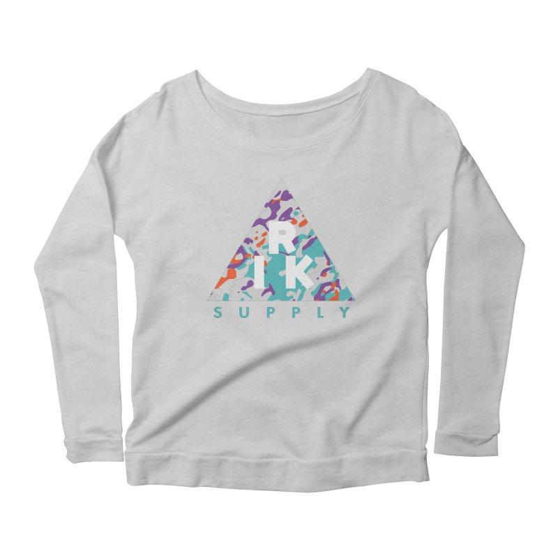 RIK.Supply (Spring Flecktarn) Women's Scoop Neck Longsleeve T-Shirt by RIK.Supply