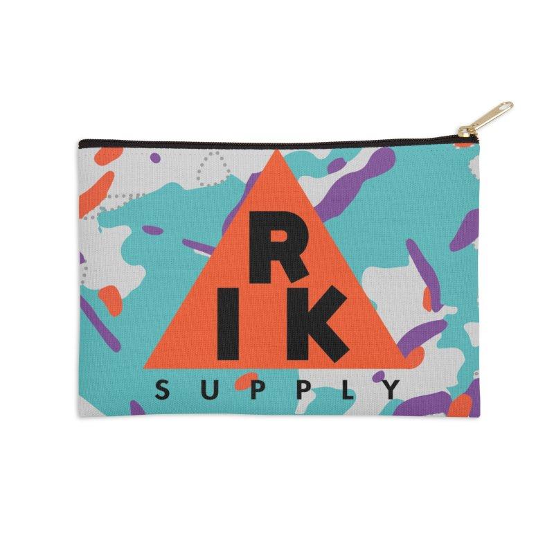 RIK.Supply (Spring Flecktarn) Accessories Zip Pouch by RIK.Supply