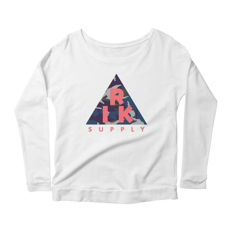 RIK.Supply (French DPM) Women's Scoop Neck Longsleeve T-Shirt by RIK.Supply