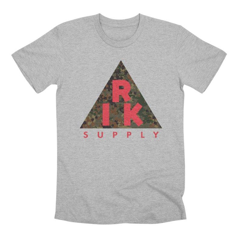 RIK.Supply (Flecktarn) in Men's Premium T-Shirt Heather Grey by RIK.Supply