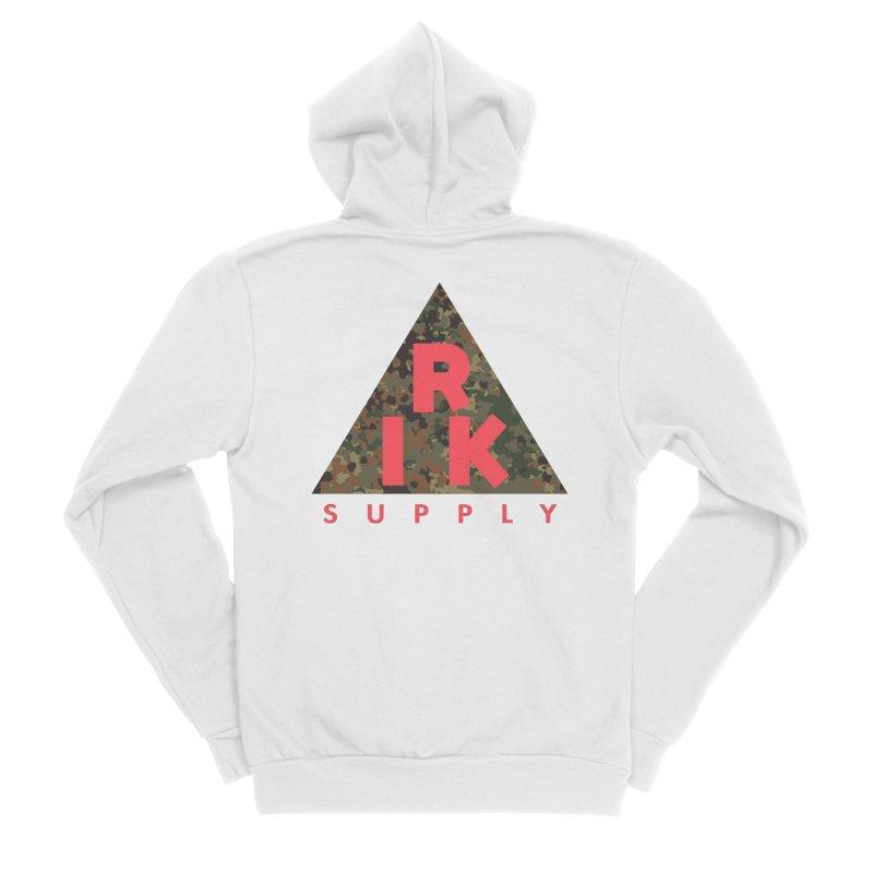 RIK.Supply (Flecktarn) Women's Sponge Fleece Zip-Up Hoody by RIK.Supply