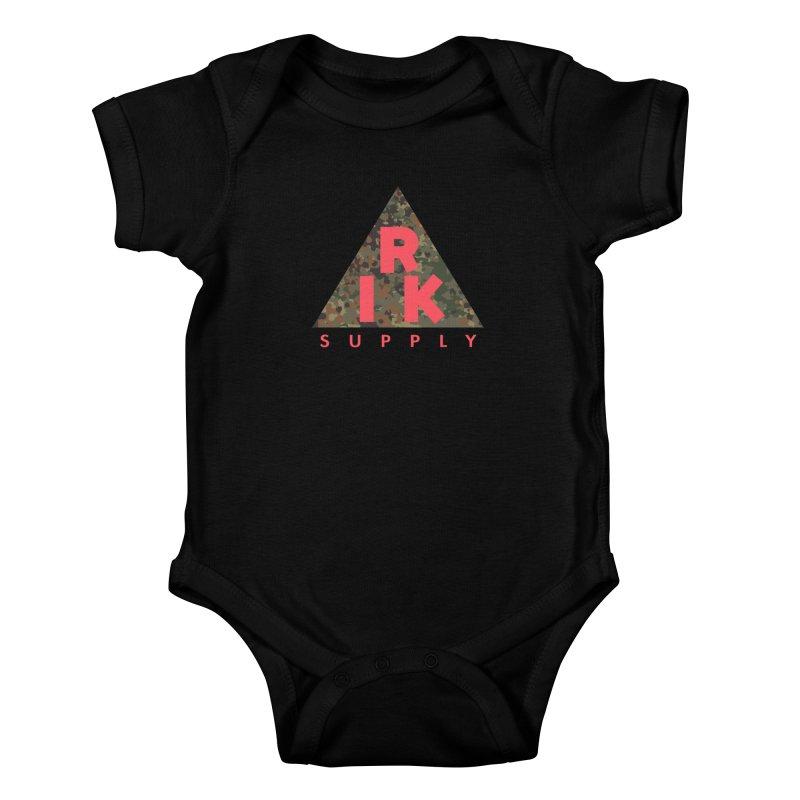 RIK.Supply (Flecktarn) Kids Baby Bodysuit by RIK.Supply