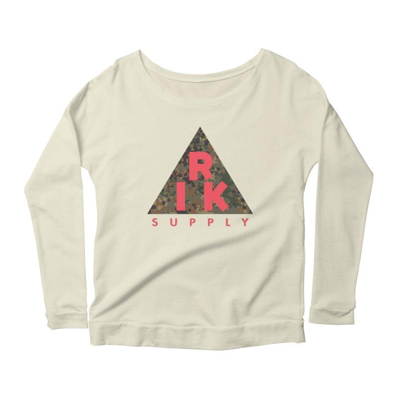 RIK.Supply (Flecktarn) Women's Scoop Neck Longsleeve T-Shirt by RIK.Supply
