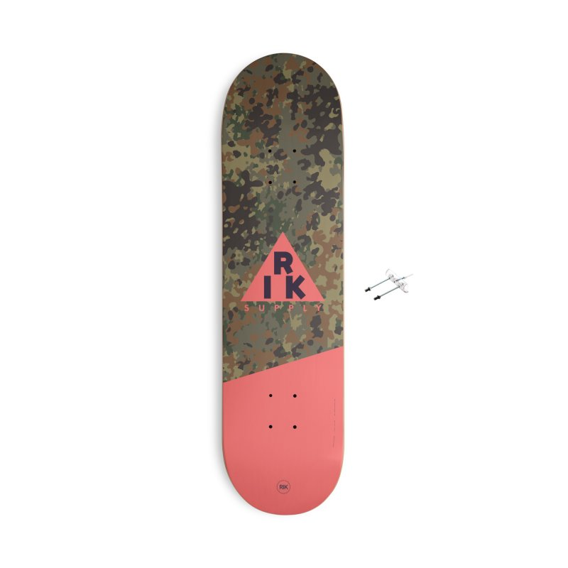 RIK.Supply (Flecktarn) Accessories With Hanging Hardware Skateboard by RIK.Supply