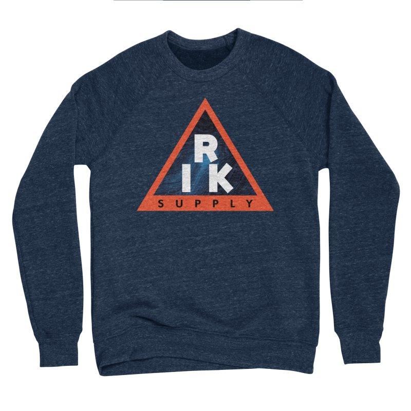 RIK.Supply (Blue Wave) Men's Sponge Fleece Sweatshirt by RIK.Supply