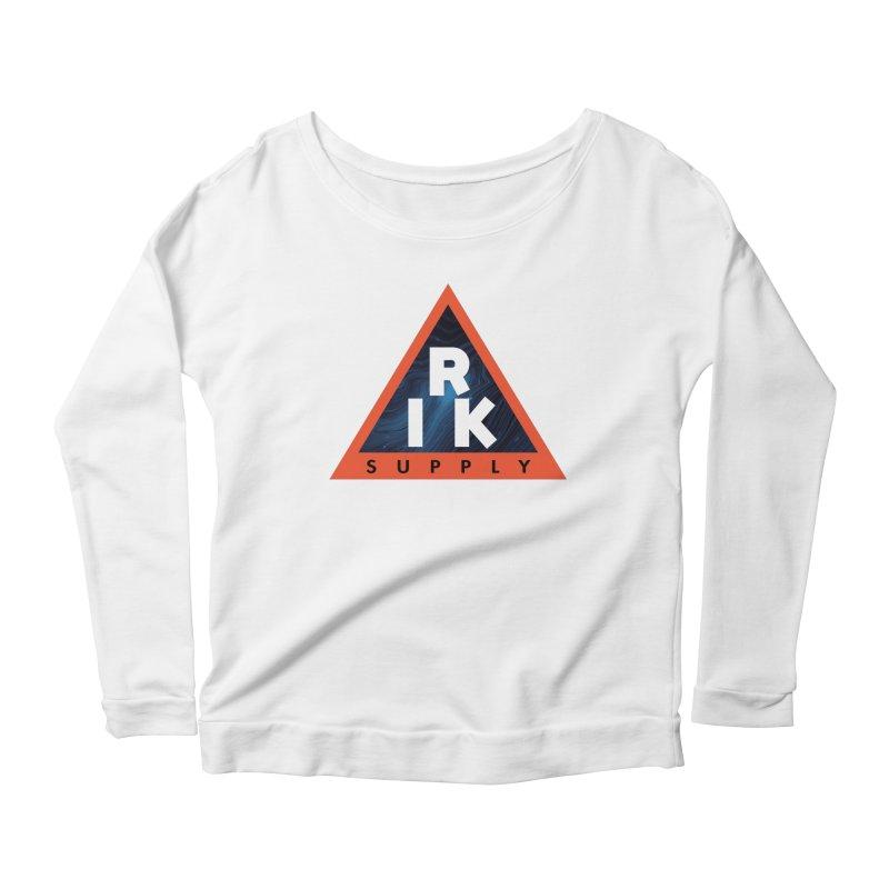 RIK.Supply (Blue Wave) Women's Scoop Neck Longsleeve T-Shirt by RIK.Supply