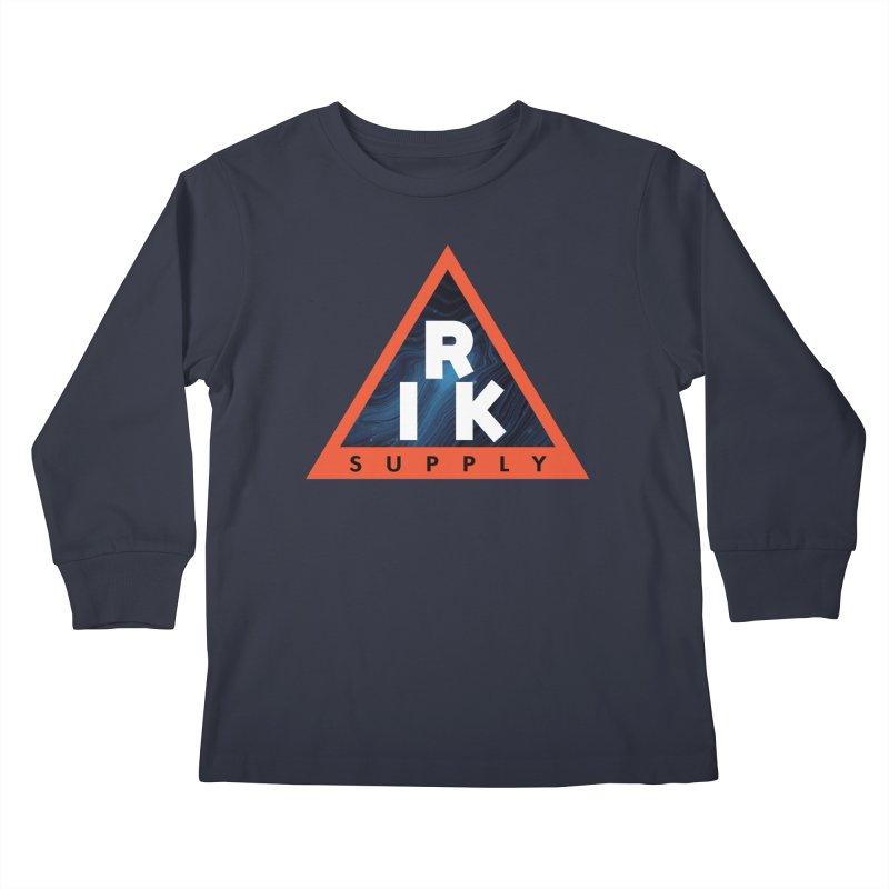 RIK.Supply (Blue Wave) Kids Longsleeve T-Shirt by RIK.Supply
