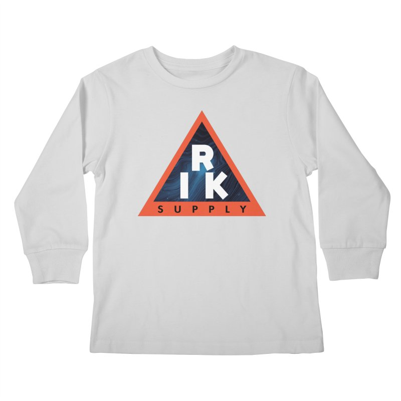 RIK.Supply (Blue Wave) Kids Longsleeve T-Shirt by RIK.Supply