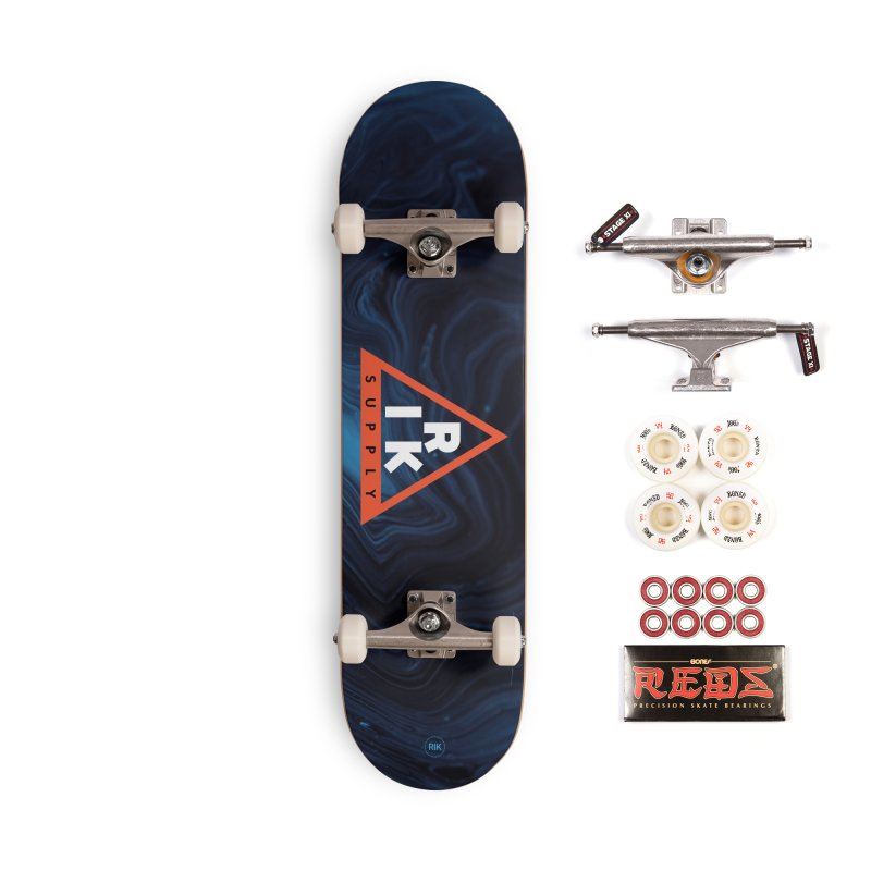 RIK.Supply (Blue Wave) Accessories Complete - Pro Skateboard by RIK.Supply