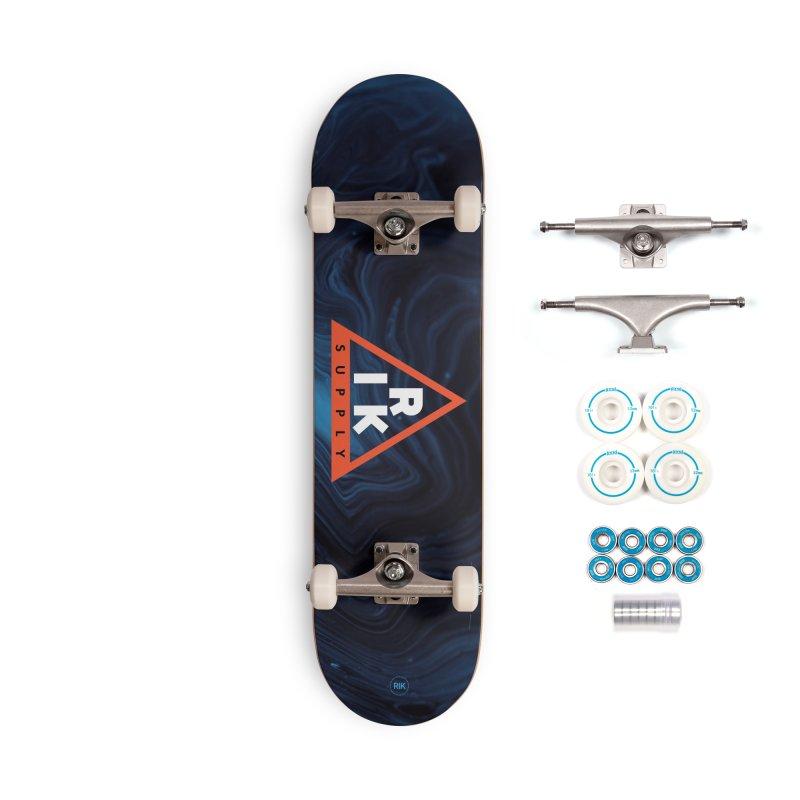 RIK.Supply (Blue Wave) Accessories Complete - Basic Skateboard by RIK.Supply