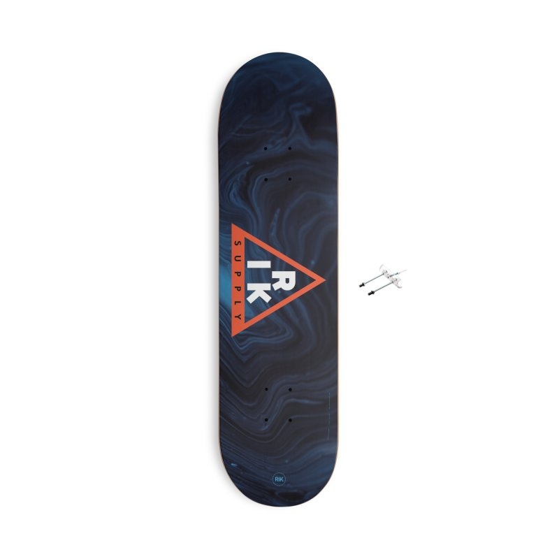 RIK.Supply (Blue Wave) Accessories With Hanging Hardware Skateboard by RIK.Supply