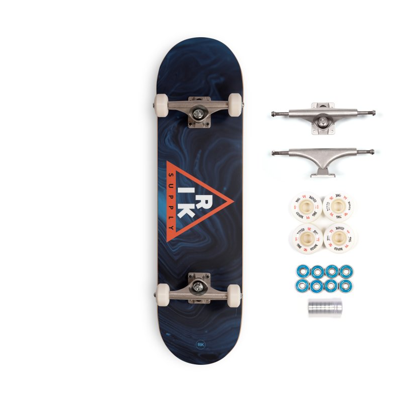 RIK.Supply (Blue Wave) Accessories Complete - Premium Skateboard by RIK.Supply