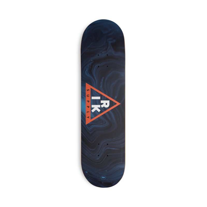RIK.Supply (Blue Wave) in Deck Only Skateboard by RIK.Supply