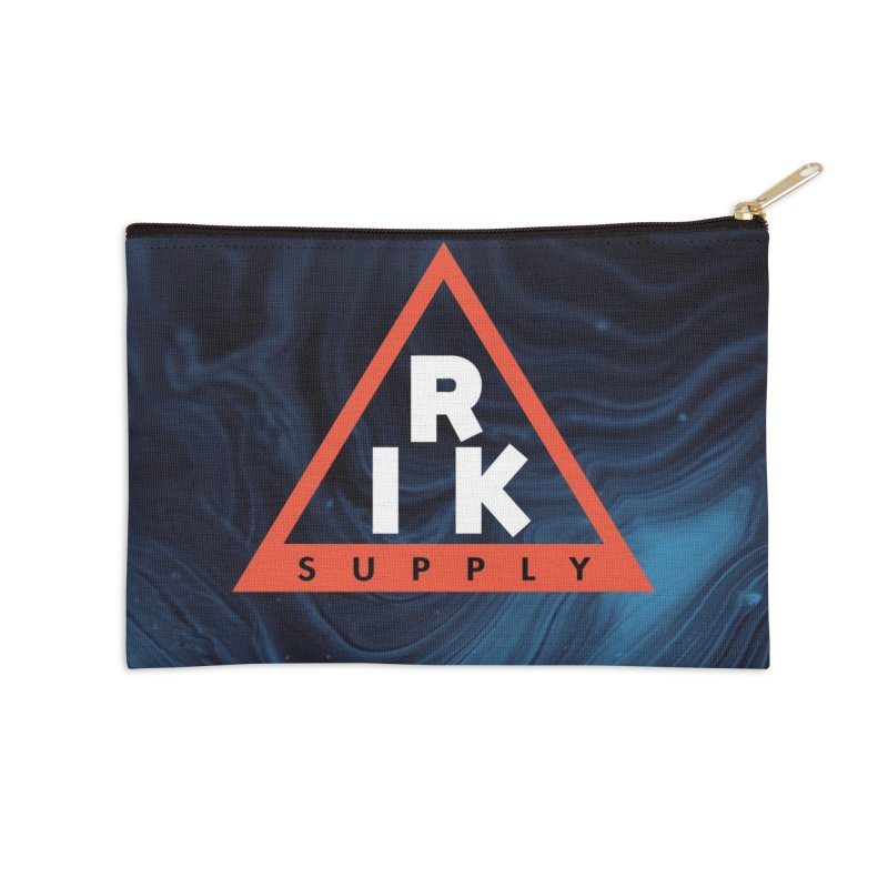 RIK.Supply (Blue Wave) Accessories Zip Pouch by RIK.Supply