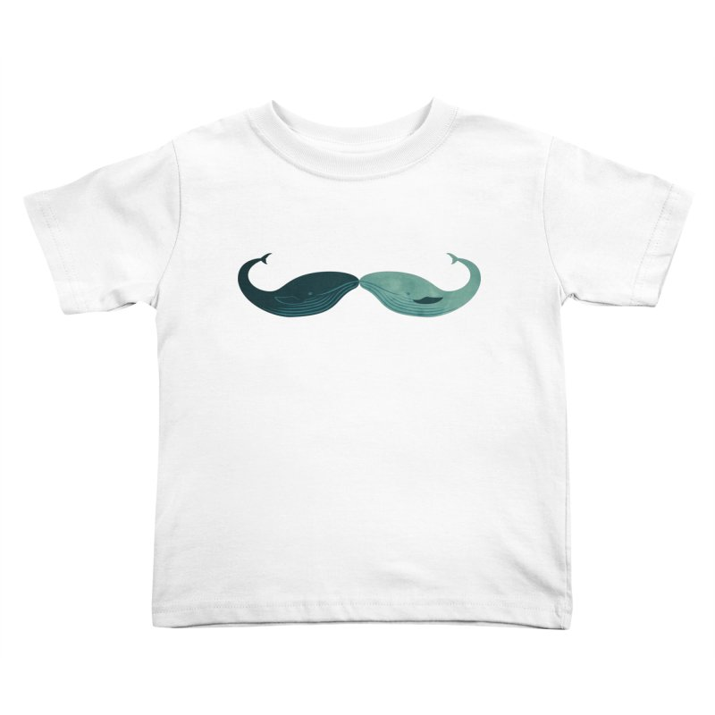 Kissing Whales Kids Toddler T-Shirt by rardita's Artist Shop