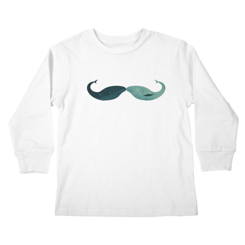 Kissing Whales Kids Longsleeve T-Shirt by rardita's Artist Shop