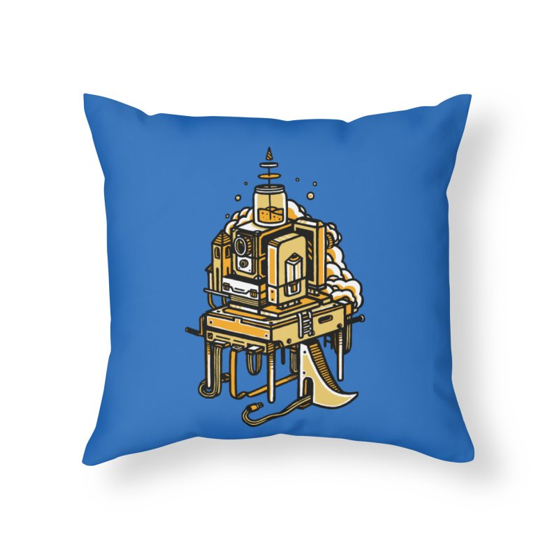 Ultrabyte Home Throw Pillow by rasefour's Artist Shop