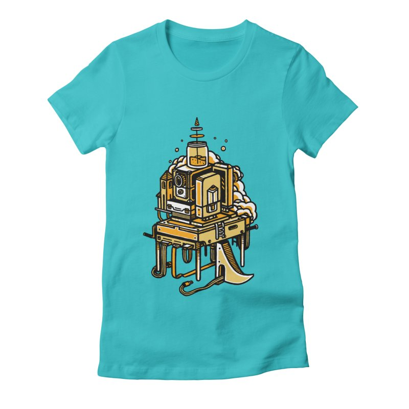 Ultrabyte Women's Fitted T-Shirt by rasefour's Artist Shop
