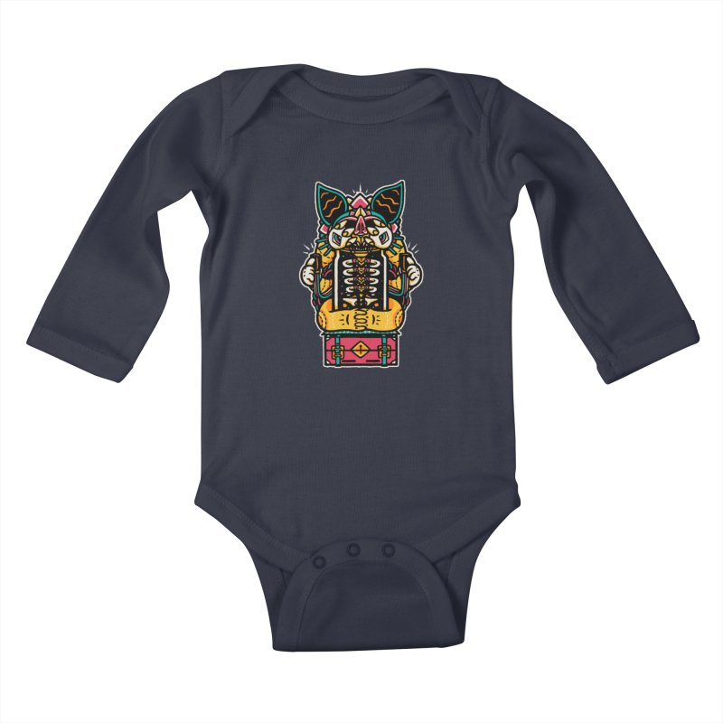 Temple Kids Baby Longsleeve Bodysuit by rasefour's Artist Shop