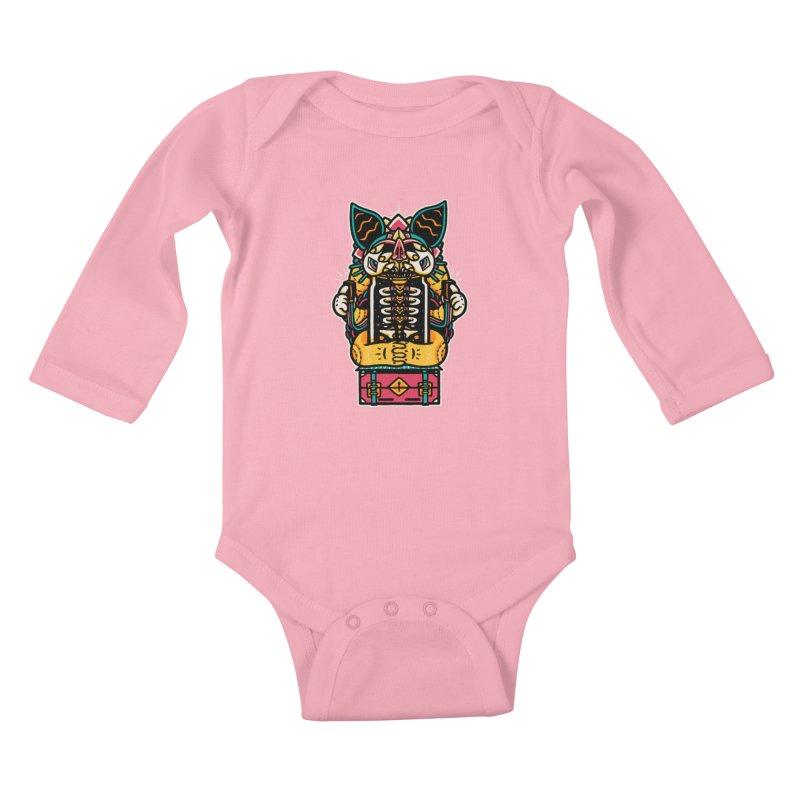 Temple Kids Baby Longsleeve Bodysuit by rasefour's Artist Shop