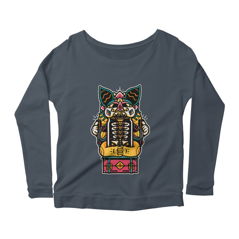 Temple Women's Longsleeve Scoopneck  by rasefour's Artist Shop