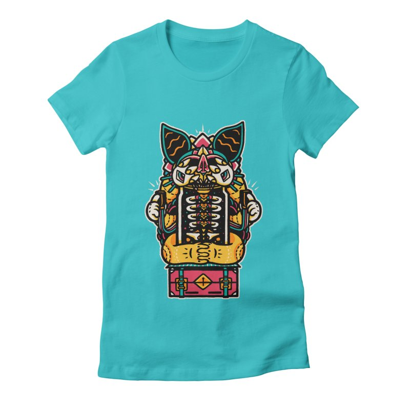 Temple Women's Fitted T-Shirt by rasefour's Artist Shop