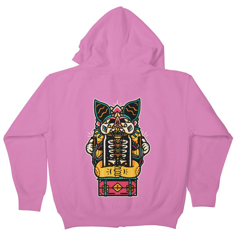 Temple Kids Zip-Up Hoody by rasefour's Artist Shop