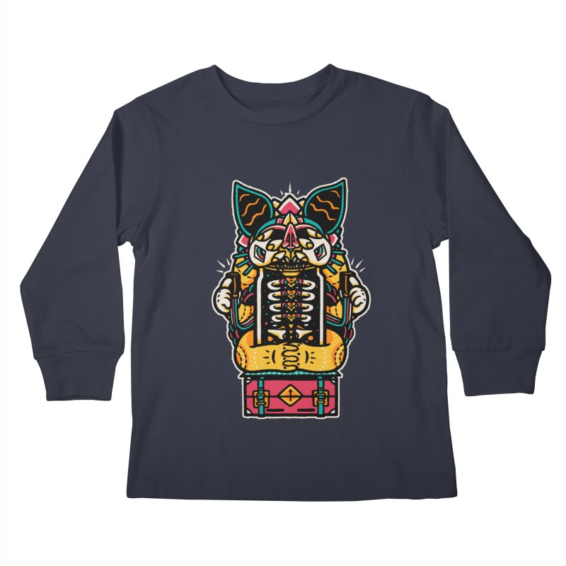 Temple Kids Longsleeve T-Shirt by rasefour's Artist Shop