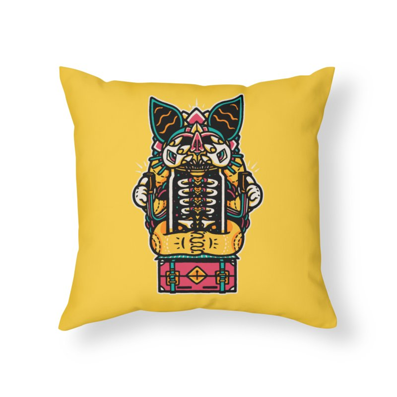 Temple Home Throw Pillow by rasefour's Artist Shop