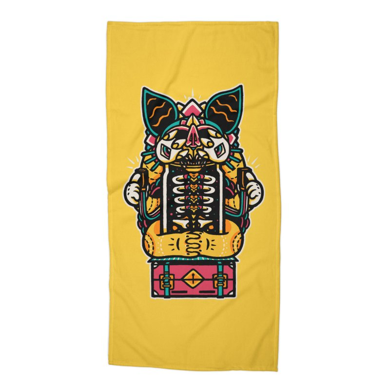 Temple Accessories Beach Towel by rasefour's Artist Shop